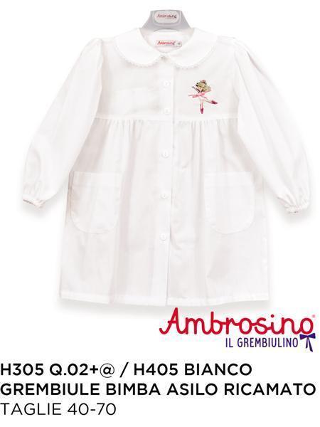 Grembiule Bimba Asilo.Grembiule Asilo Bimba Ric Bianco H405 Ambrosi